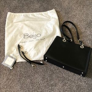 NWOT Black and Silver Beijo Purse and Accessories